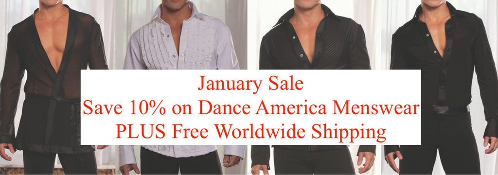 10% Discount Menswear from Dance America Dancewear For You NOW