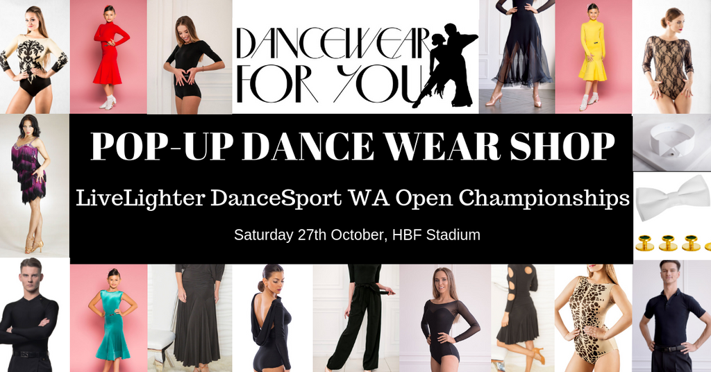 Dancewear ON SALE at the LiveLighter DanceSport WA Open Championships