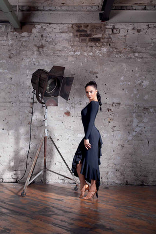 chrisanne clover little black dress ruby latin and tango dress from dancewear for you australia
