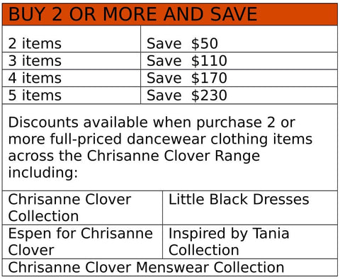 espen dance, espen dancewear australia, chrisanne clover dancewear australia, chrisanne clover on sale, ballroom dress on sale, latin dress for sale australia, dancewear australia, dancewear for you, ladies dance leotard australia