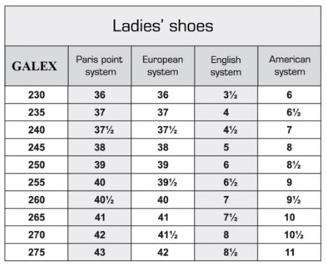 galex australia ladies dance shoe size chart dancewear for you