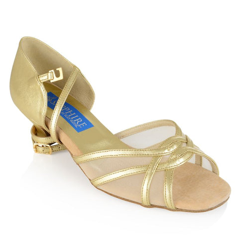 Carnation Latin Dance Shoe Gold