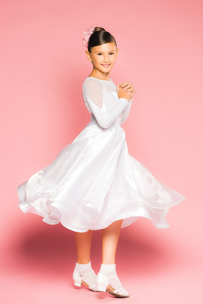 c1d4e6c241d5b Girls Juvenile Ballroom Dance skirt made with organza overlay and sateen  from Dancewear For You Australia
