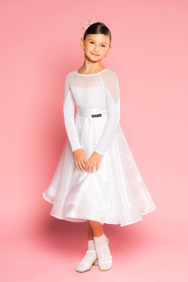 3f9df5308 ... Girls Juvenile Ballroom Dance skirt made with organza overlay and  sateen from Dancewear For You Australia