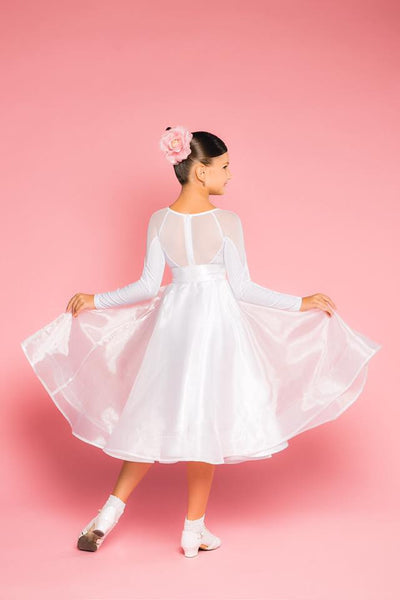 Girls Juvenile Ballroom Dance skirt made with organza overlay and sateen from Dancewear For You Australia including free Australia-wide shipping