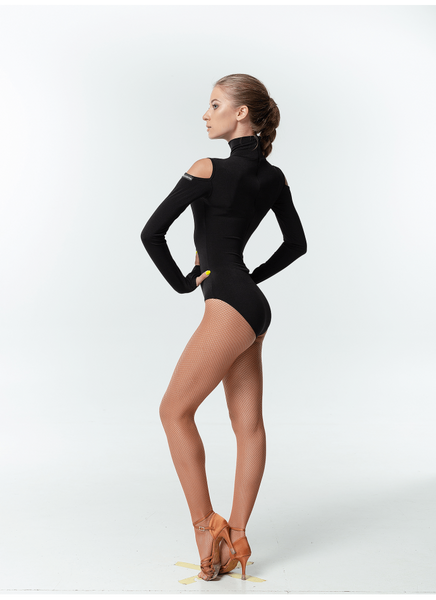Leotard with Long Sleeves & Shoulder Cut Outs K459