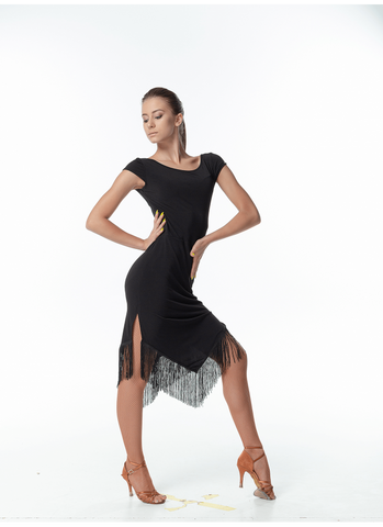 Latin Dress with Fringe PL260