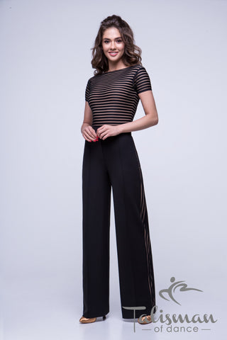 Ladies Wide Leg Trousers BR-986