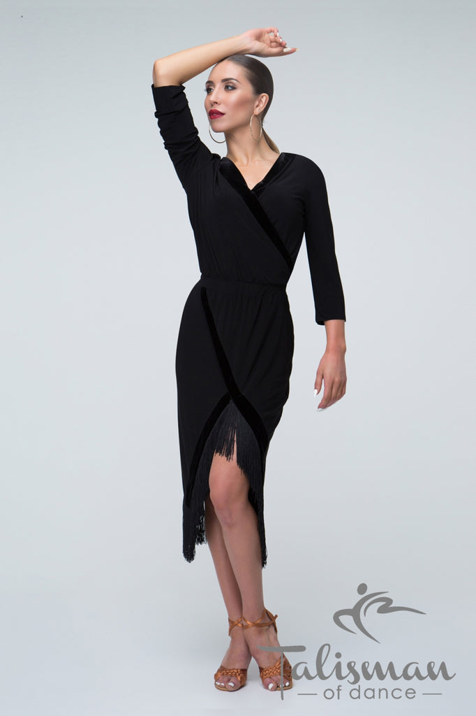 Elegant & Versatile Dress for Latin practice, performance, DanceSport and social dancing or evening and cocktail wear.  A very flattering style for Latin and Tango from dancewear for you australia
