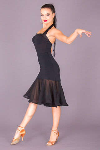 dsi latin skirt with crepe and georgette from dancewear for you australia and nz dancewear, black dsi latin skirt