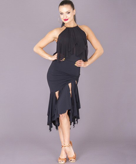 dsi karina latin skirt with asymmetric hemline in black or red from dsi dancewear for you australia and nz dancewear