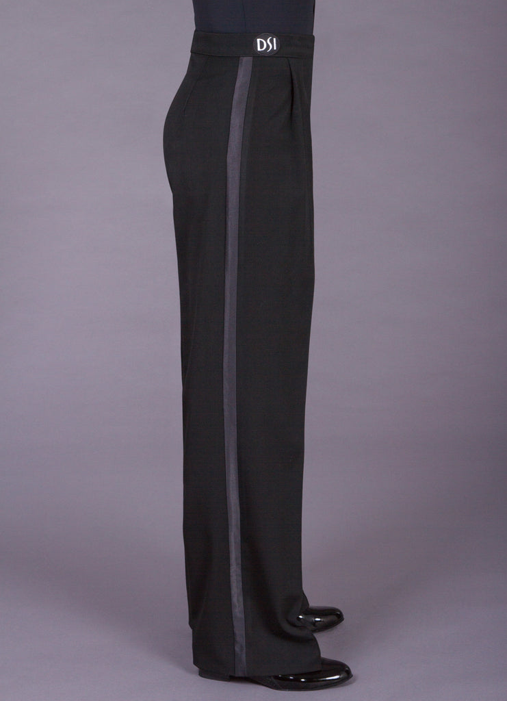 dsi mens box pleat dance trousers with wide satin stripe from dsi australia dancewear for you with free shipping