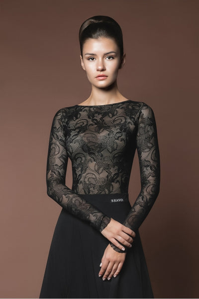 A beautiful lace leotard for practice, performance & DanceSport from dancewear for you australia