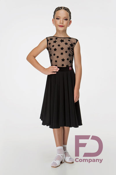 Juvenile & Junior Black Ballroom Skirt 972 KW
