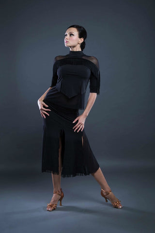 Latin fringe skirt from dancewear for you australia