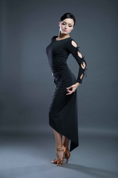 long sleeve black top from dancewear for you australia