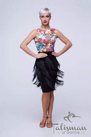 Fringe Skirt for Latin, Samba, Salsa practice, performance, DanceSport and social dancing or evening and cocktail wear from dancewear for you australia
