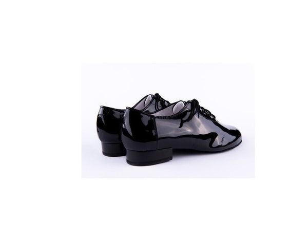 100% Italian made, handcrafted using only the finest quality materials.  These Luxury Mens Ballroom Dance Shoes are perfect for Ballroom & Social Dance Styles - performance & competition.   A stunning, high quality hand made dance shoe for every occasion!   Made with Black Patent. - See below for sole options.  Unless otherwise requested, these Ballroom Shoes will be made with a Super Flex Split Sole.