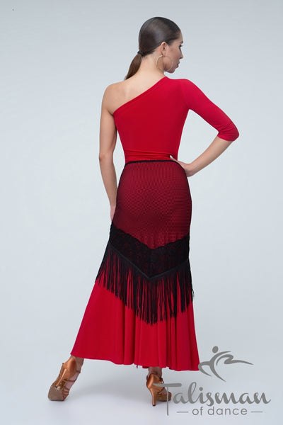 One Shoulder Asymmetric Ballroom & Evening Dress PL-1013