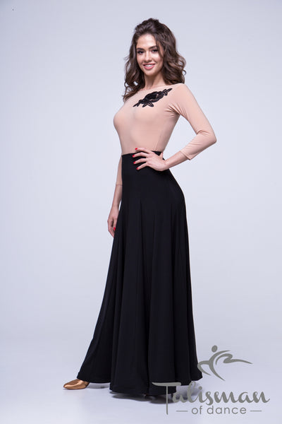 Ballroom Skirt for practice, performance, DanceSport and social dancing or evening wear from dancewear for you australia.  black long ballroom skirt australia