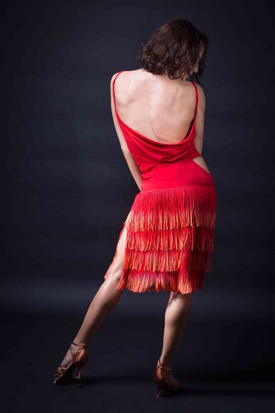 santoria fringe skirt for latin dance, skirt for salsa, fringe skirt for samba and latin dance from dancewear for you australia