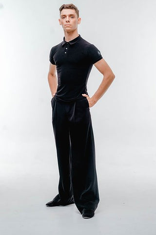 Free Australia-wide shipping with tracking.  Best price worldwide.  Stylish and versatile mens trousers with pleats and pockets.  Perfect for teaching, practice, performance, medals and dancesport competition.