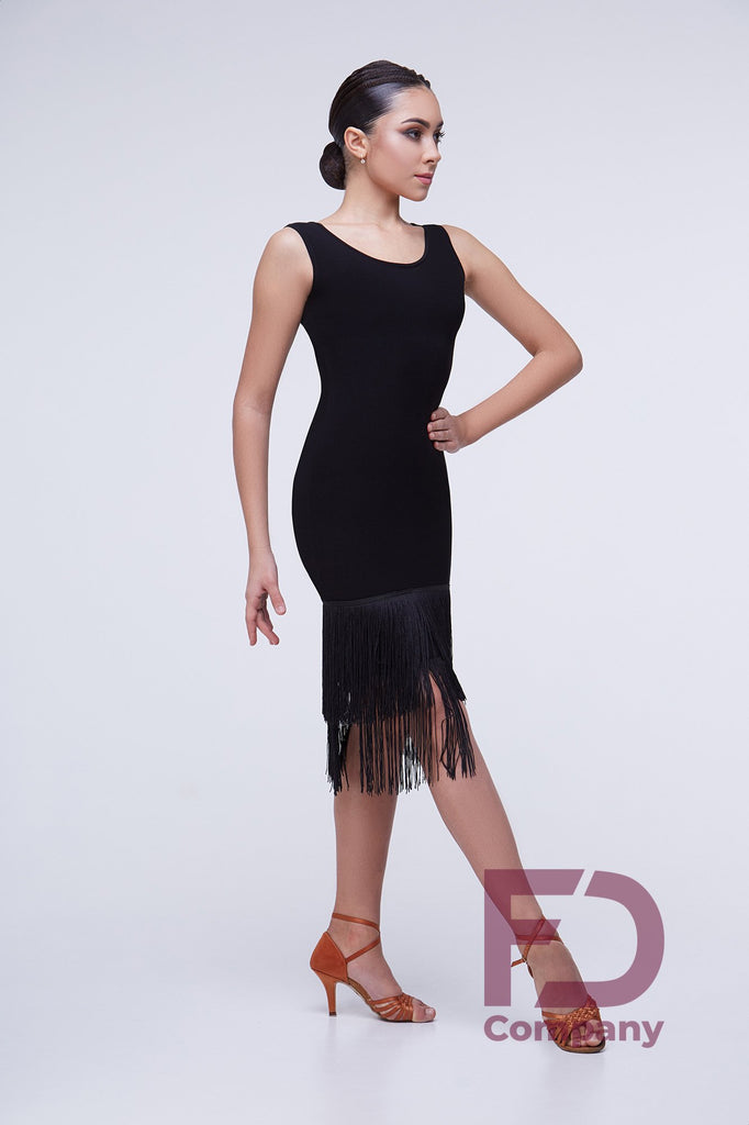 sleeveless latin and cocktail dress with long fringe hemline dancesport latin dress australia