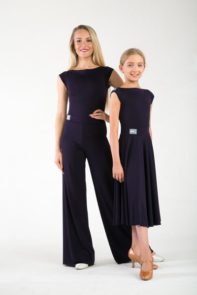 A Staple Crepe Circle skirt for teaching, practice and exams.  Ballroom skirt with free shipping australia