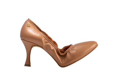 Free Australia-wide shipping.  Best price worldwide with tracking.  These Ballroom Dance Pumps have been designed to guarantee comfort and security due to the invisible elastic band to hold them in place.  Pointed toe and various heel designs available.