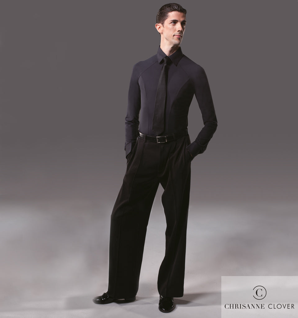 chrisanne clover mens ballroom practice shirt and ballroom pants from dancewear for you australia