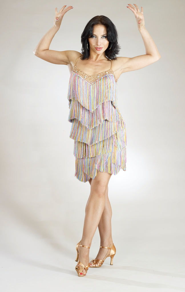 santoria fringe latin dance dress for latin dance competition from dancewear for you australia and new zealand