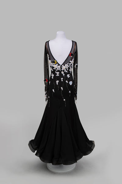 EM Light - Black and White Ballroom Competition Dress