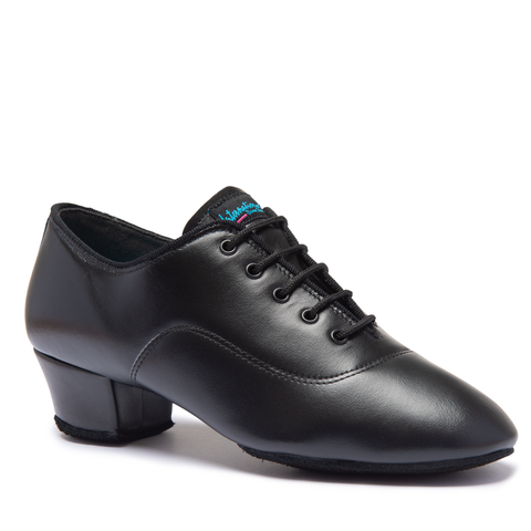Boys Rumba Latin Shoe - Black Calf