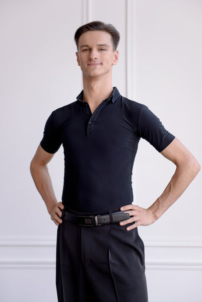 danza by dana spitsyna mens polo shirt in black from dancewear for you australia