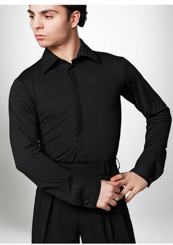 Dancemo AS Single Collar Stretch Ballroom Shirt 2014300