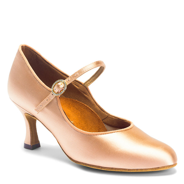ICS Classic Ladies Ballroom Shoe - Flesh Satin