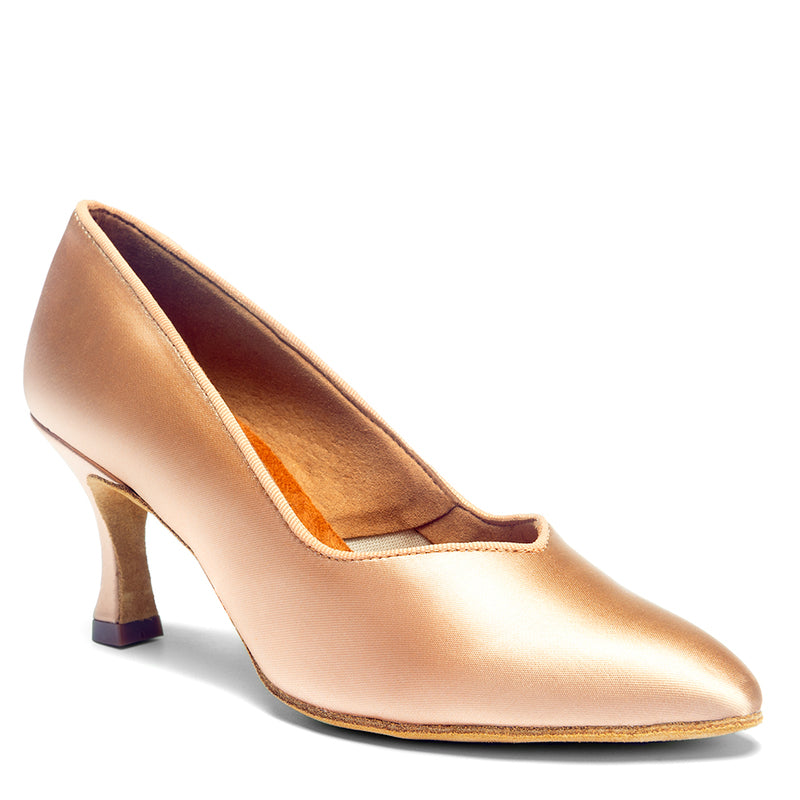 ICS Superstar Ladies Ballroom Shoe - Flesh Satin