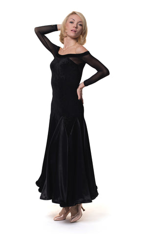 RS Atelier Ischia Velvet Ballroom Dress