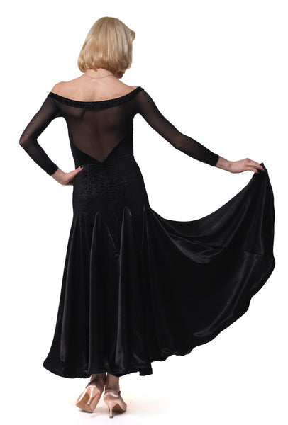 rs atelier ischia black ballroom dress from dancewear for you australia