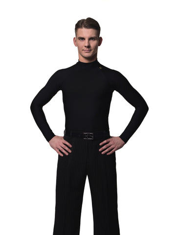 rs atelier mens david half turtleneck black top with long sleeves from dancewear for you