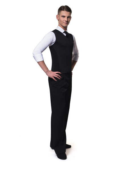 rs atelier mens dmitry black cool fitted waistcoat from dancewear for you