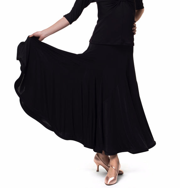 black ballroom skirt, rs atelier ballroom skirt from dancewear for you