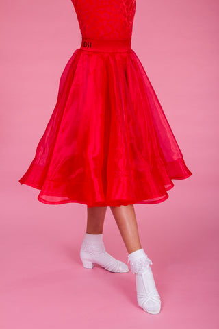 DSI Juvenile Girls Premium Made to Order Girls Ballroom  Skirt 1083 from dancewear for you australia