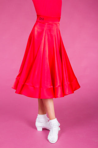 DSI Juvenile Girls Premium Made to Order Girls Georgia Ballroom or Latin Skirt 1080 from dancewear for you australia