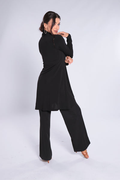 Ladies Cardigan with Shawl Collar.  Stylish and elegant, high quality ladies jacket for dance, evening wear and day wear made with soft falling jersey crepe with elastane.  Perfect for all occasions.  Wrinkle-free quality makes this cardigan your must-have wardrobe piece!