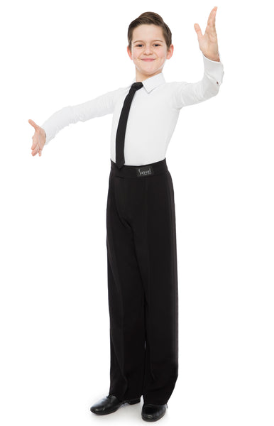 sasuel boys juvenile dance body shirt with built-in pants and zip front fastening in black or white from dancewear for you australia, boys ballroom shirt, boys latin shirt australia