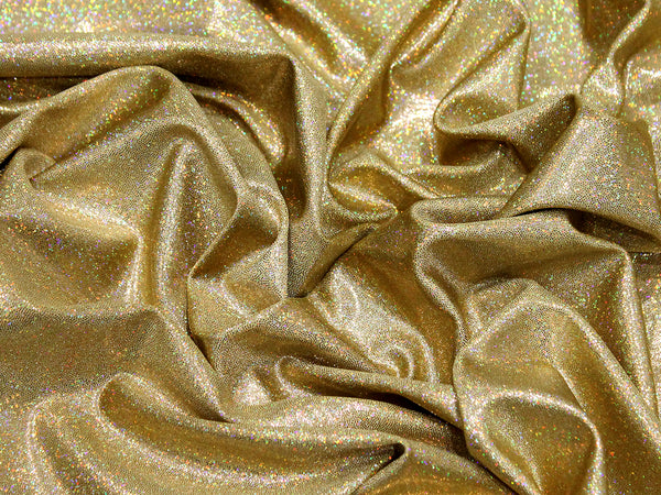 A hologram foil glimmers on a metallic micro dot lycra  chrisanne clover hologram silver stretch lycra dance fabric free australia shipping