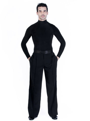 mens ballroom and latin trousers, mens dancewear pants, mens dance trousers with satin waistband and satin side seam from dancewear for you australia
