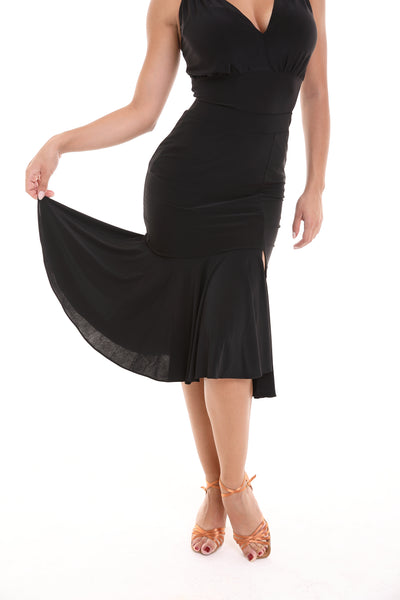 tasha by popcon fitted latin dance skirt with ruffles and front split from dancewear for you australia