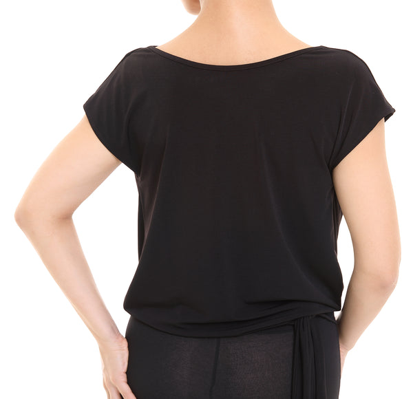PopconAtelier Dance Top with Tie Dropped Waistline WMT145